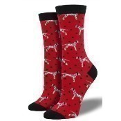 Bamboo Dalmatians Socks - Fire Engine Thumbnail