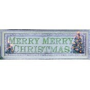 Lighted Large Merry Merry Christmas Canvas Thumbnail