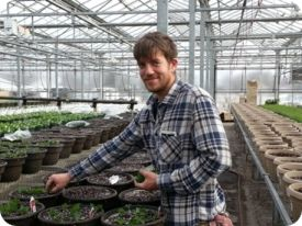 David Milaeger in Greenhouse