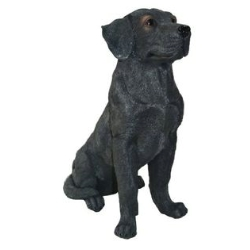 Delicieux Sitting Black Lab Statue