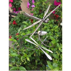 Incroyable Double Dragonfly Garden Stake