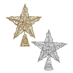 Metal Gold Or Silver Tree Topper