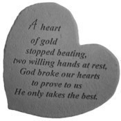 A Heart Of Gold Memorial Stone Thumbnail