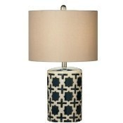 Blue Geometric Table Lamp Thumbnail