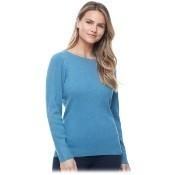 Ribbed Ballet Neck Sweater - Teal Thumbnail