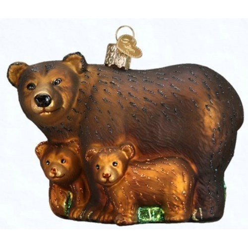Bear with Cubs Ornament Thumbnail
