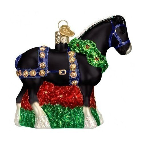 Black Clydesdale Ornament Thumbnail