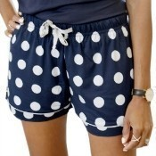 Dottie Sleep Shorts - Navy - Extra Large Thumbnail