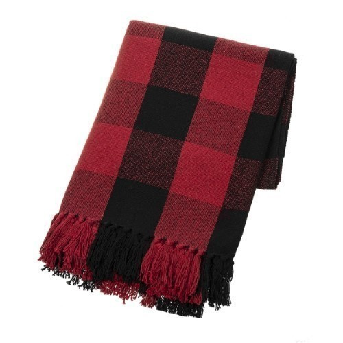 Buffalo Plaid Throw - Red & Black  Thumbnail