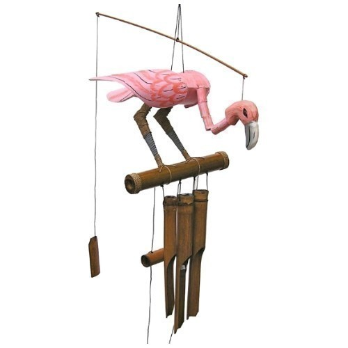 Flamingo Bamboo Wind Chime Thumbnail