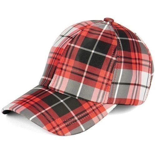 Baseball Hat - Red Plaid Thumbnail