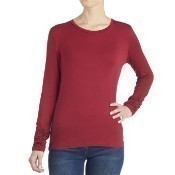Scrunch Sleeve Tee - Red - Large Thumbnail