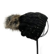 Beanie - Black with Sequins Thumbnail