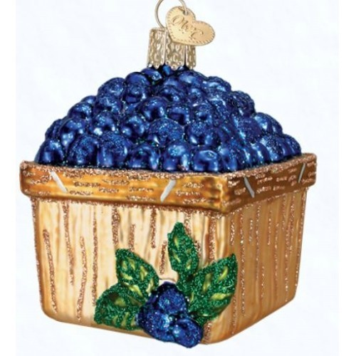 Basket of Blueberries Ornament Thumbnail