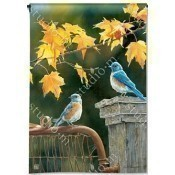 Bluebird Meeting Garden Flag Thumbnail