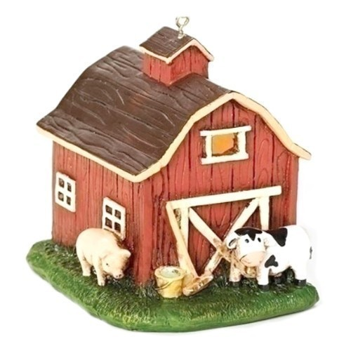 LED Barn with Animals Ornament Thumbnail