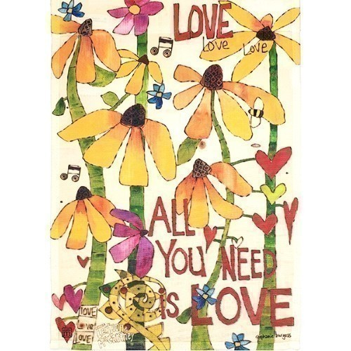 Garden flag - All You Need Is Love Thumbnail