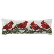 Cardinal with Winterberry Pillow Thumbnail