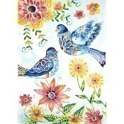 Happy Blue Bird Garden Flag Thumbnail