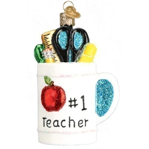 Best Teacher Mug Ornament Thumbnail