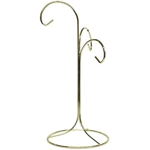 Brass Plated Three Arm Ornament Stand Thumbnail