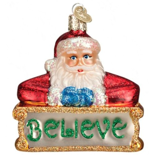 Believe Santa Ornament Thumbnail
