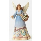 Grandmother Angel with Basket Figurine Thumbnail