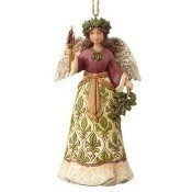 Victorian Angel with Candle Ornament Thumbnail
