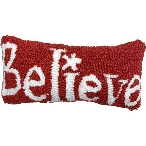 Believe Hooked Pillow Thumbnail