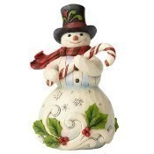 Snowman with Candy Cane Thumbnail