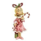 Cindy Lou with Candy Cane Figurine Thumbnail