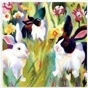 Blossom Bunnies Lunch Napkins Thumbnail
