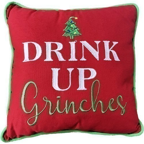 Drink Up Grinches Pillow Thumbnail