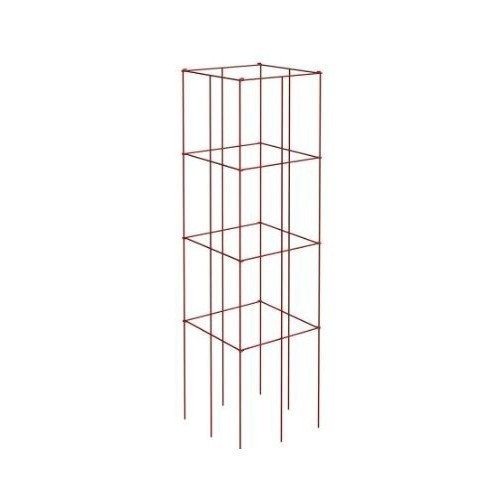 4-Panel Tomato and Plant Support Tower, Red Thumbnail