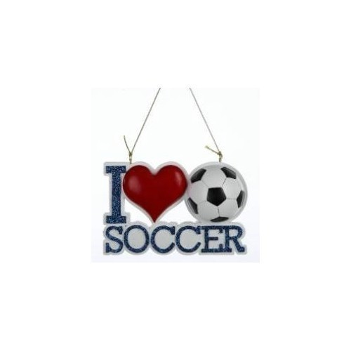 I Love Soccer Ornament Thumbnail