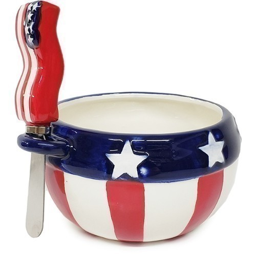 Americana Bowl with Spreader Thumbnail
