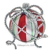Beribboned Orb - Peppermint Stripe - Sold Out Thumbnail