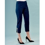 Crop Techno Pant - Navy Thumbnail