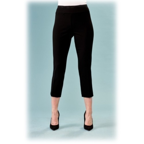 Cropped Scuba Pant - Black Thumbnail