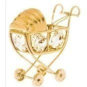 Gold Stroller Ornament Thumbnail