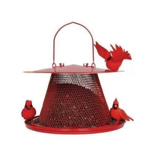 Cardinal Bird Feeder - Red Thumbnail