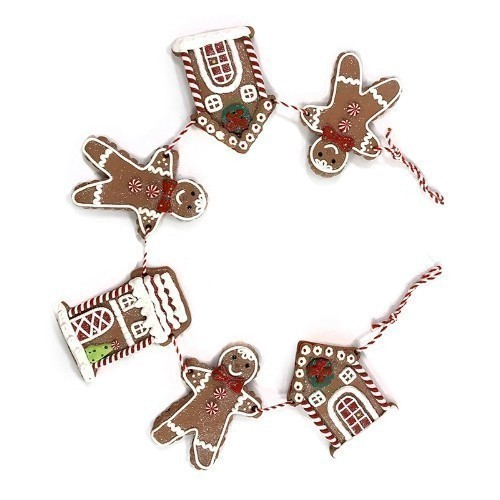 Gingerbread Garland - 2.5' Thumbnail