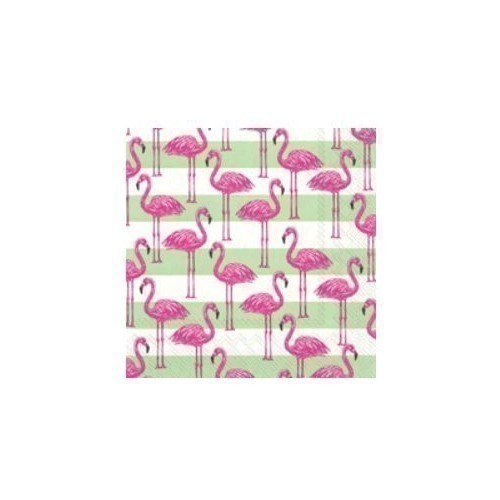 Flamingo Stripe Lunch Napkins Thumbnail
