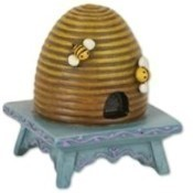 Mini Beehive on Stool Thumbnail
