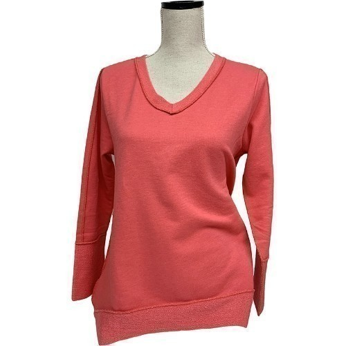 V-Neck Button - Coral Thumbnail
