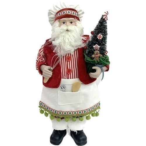 Kitchen Santa with a Whisk Thumbnail