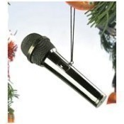 Black Microphone Ornament Thumbnail