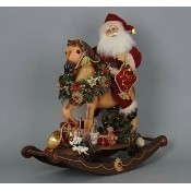Karen Didion - Lighted Rocking Horse Santa Thumbnail