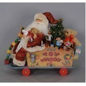 Karen Didion - Lighted Toy Wagon Santa Thumbnail