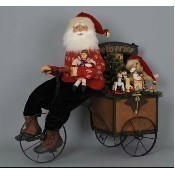 Karen Didion - Lighted Delivery Trike Santa Thumbnail